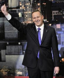 John Key on the David Letterman