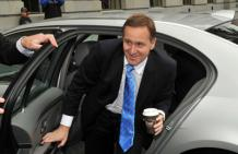 John Key arrives at Parliament.
